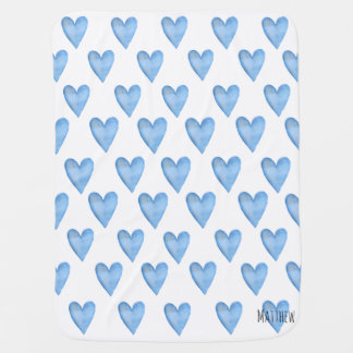 You Are Loved Customizable Heart Boy's Baby Blanket