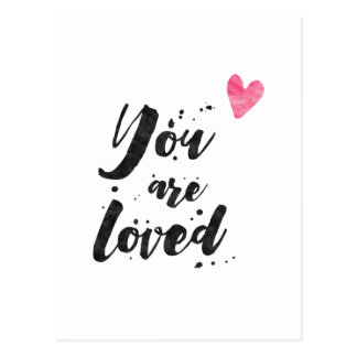 You Are Loved - Inspirational Card Postcard