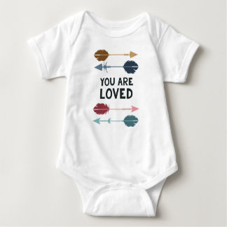 You are Loved - Multi Colored - Baby Baby Bodysuit