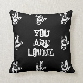 """You Are Loved"" Sign Language Pillow"