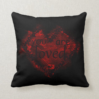You are loved! throw pillow