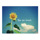 You are Loved with Sunflower Postcard