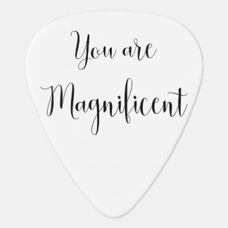 You are Magnificent, Inspiring Message Guitar Pick