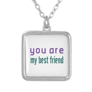 You Are My Best Friend Silver Plated Necklace