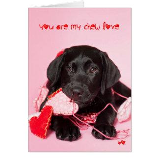 You are my Chew Love Black Lab Valentine Card