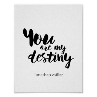 You Are My Destiny Cute Quote Wall Art