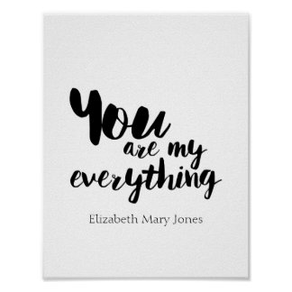 You Are My Everything Cute Quote Wall Art