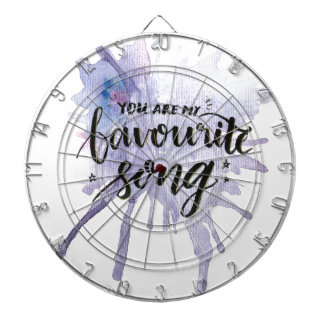 You are my favourite song dartboard