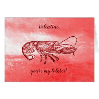 You are my lobster naughty Valentine Card