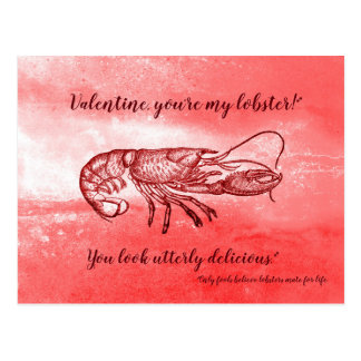You are my lobster naughty Valentine Postcard