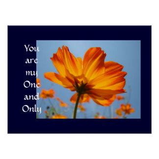 You are My One and Only art print Orange Daisy