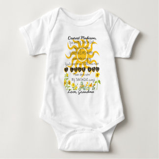 You Are My Sunshine Add Name Baby Bodysuit