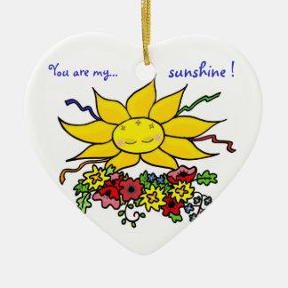 You Are My Sunshine Ceramic Ornament