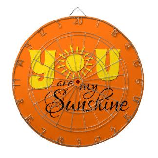 You are my sunshine dartboard