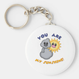 You Are My Sunshine Design Basic Round Button Key Ring