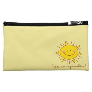 You Are My Sunshine Happy Cute Smiley Sunny Day Cosmetic Bag