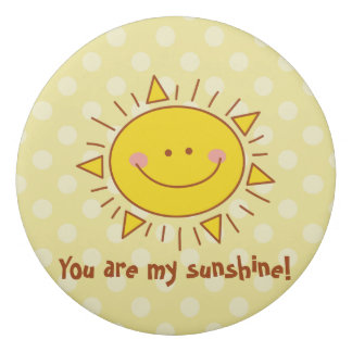 You Are My Sunshine Happy Cute Smiley Sunny Day Eraser