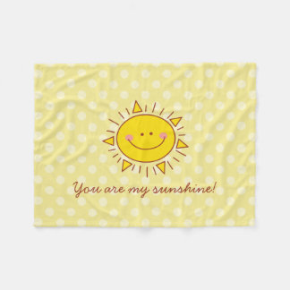 You Are My Sunshine Happy Cute Smiley Sunny Day Fleece Blanket
