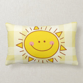 You Are My Sunshine Happy Cute Smiley Sunny Day Lumbar Pillow