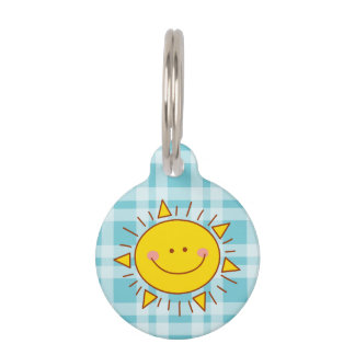 You Are My Sunshine Happy Cute Smiley Sunny Day Pet ID Tags