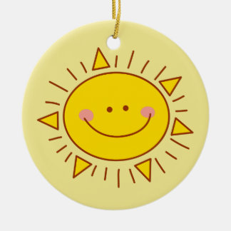 You Are My Sunshine Happy Cute Smiley Sunny Day Round Ceramic Decoration