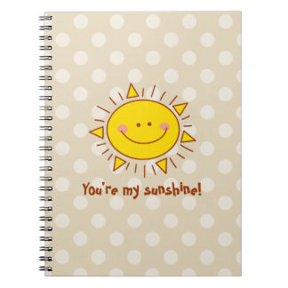 You Are My Sunshine Happy Cute Smiley Sunny Day Spiral Notebook