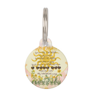 You Are My Sunshine Hearts Pet Tags