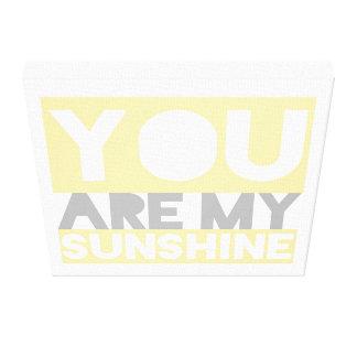 You Are My Sunshine Lyrics Canvas Stretched Canvas Prints