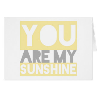 You Are My Sunshine lyrics card