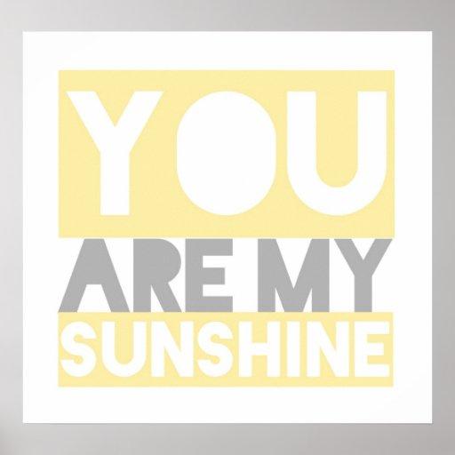 You Are My Sunshine lyrics poster   Zazzle.com.au