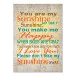 You are my Sunshine Orange/Teal/Cream Personalised Invitations