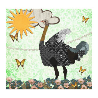 You Are My Sunshine Ostrich Art Canvas Canvas Prints