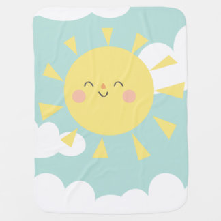 You Are My Sunshine Pastel Cloud Baby Blanket
