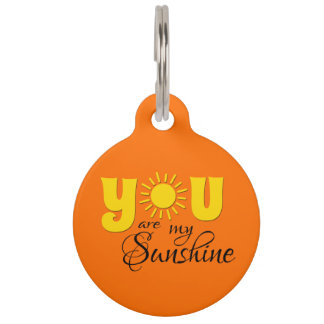 You are my sunshine pet tag