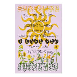 You are my sunshine. poster