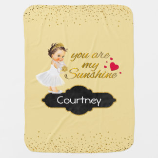 You Are My Sunshine Song | Princess Nursery Throw Baby Blanket