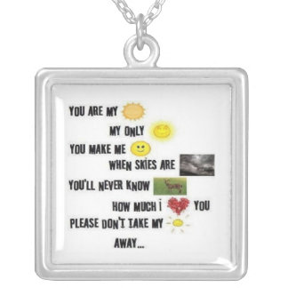 You Are My Sunshine - Square Necklace