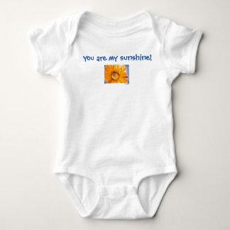 You are My Sunshine Sunflower Art Baby Bodysuit
