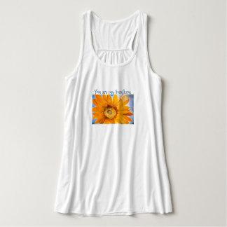 You are my Sunshine Sunflower Art Flowy Tank Top