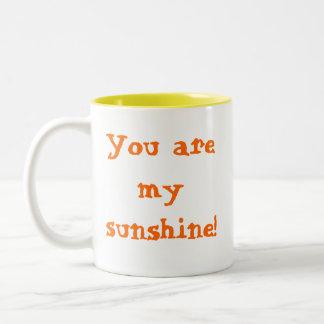 You are my sunshine! Two-Tone mug