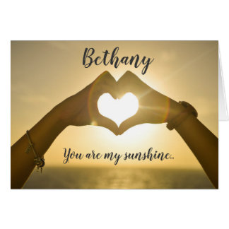 You Are My Sunshine Valentine's Day Card