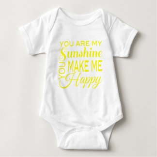 You are my Sunshine, You make me Happy Baby Bodysuit