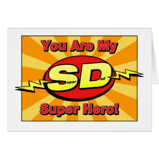 You Are My Super Hero Father's Day Card