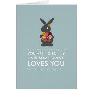 You are No Bunny Papercut Style Card