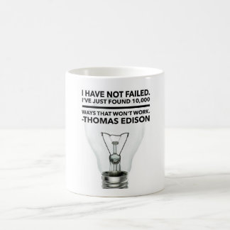 You are not a failure unless you give up coffee mug