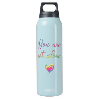 You Are Not Alone/Safety Pin Insulated Water Bottle