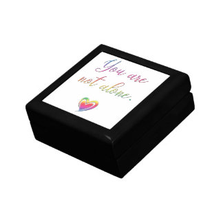 You Are Not Alone/Safety Pin Small Square Gift Box