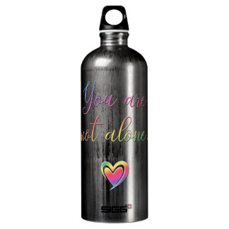 You Are Not Alone/Safety Pin Water Bottle