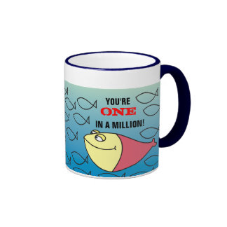 You are ONE in a Million! Funny Cartoon Fishes Mug