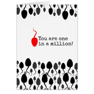 """You are one in a million"" sign Greeting Card"